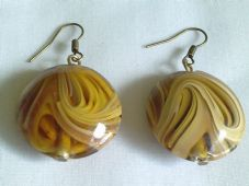 Lampwork Oval earrings
